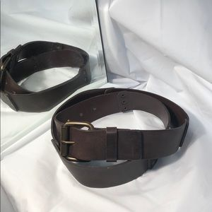 Accessories - Italian leather rivited belt  made in Canada